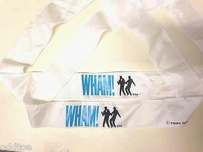 George Michael Concert Headband's TWO (2) from 1984 Wham ! Original