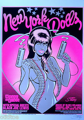 New York Dolls, House OF Blues, 2009, Concert Poster S/N by Greg Stainboy Reinel