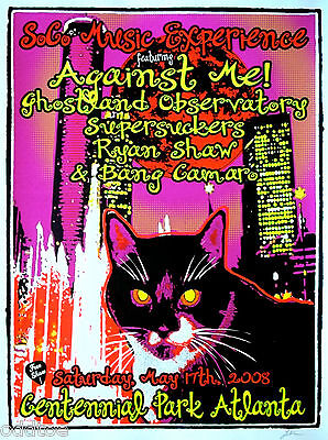 AGAINST ME!, Orig. Concert Poster S/N Lindsey Kuhn, SoCO Music Experience 2008