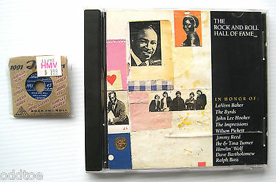 6th Rock & Roll Hall of Fame 1991 CD and Commemorative Pin, BYRDS TURNER HOOKER