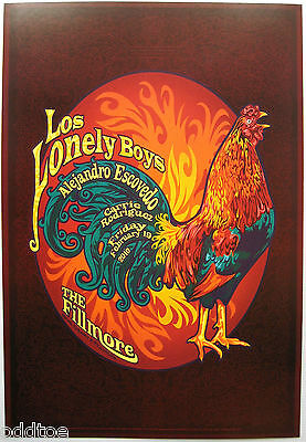 LOS LONELY BOYS- Original 2010 Concert Poster by D.S. Johnson, Fillmore F1042