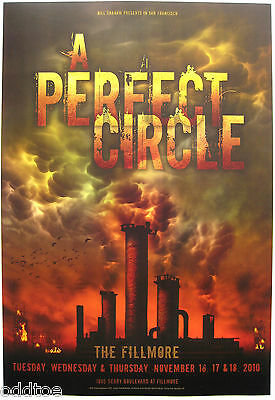 A PERFECT CIRCLE- Orig. 2010 Concert Poster by Frank Wiedemann, Fillmore F1072