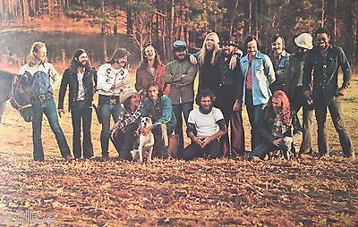 The Allman Brothers Band and Crew - Juliette, Georgia - 1972 Postcard