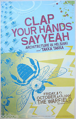 CLAP YOUR HANDS SAY YEAH 2006 Concert Poster by Brandy Faucette BGP 346 Warfield