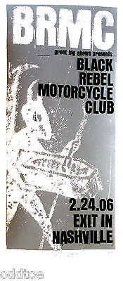 BLACK REBEL MOTORCYCLE CLUB, Orig. Concert Poster S/N Print Mafia, ARTIST PROOF