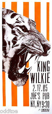 KING WILKIE, Orig. Concert Poster S/N by Print Mafia, Tiger, Silkscreen, FOLK