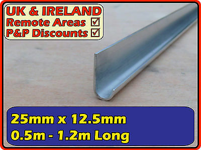 "Aluminium Gutter (J section U profile channel) | 1"" (> 25mm < 15mm)"