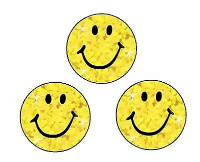 400 Yellow Sparkle Smiles Reward Stickers - Ideal For Reward/Incentive Charts