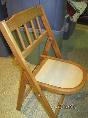 Vintage Folding Chair Child's size Cherry wood