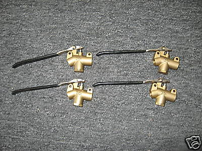 Carpet Cleaning Brass Wand Angle Valves, Set of 4