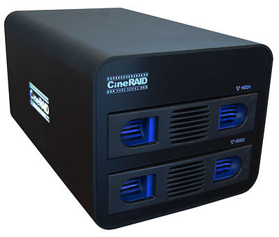 CineRaid CR-H252 2 Bay Portable RAID Subsystem
