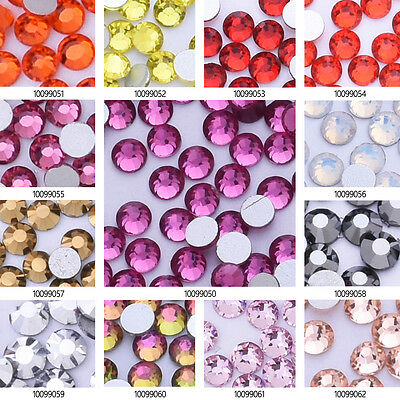 SS12 Gems Crystal Rhinestone Flat Non Hot Fix Crystal Craft for Nail Art 1440pcs