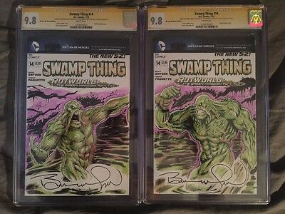 Swamp Thing #14 Cgc Ss 9.8 Signed By Bernie Wrightson & Alex Kotkin W/ Sketch 2X