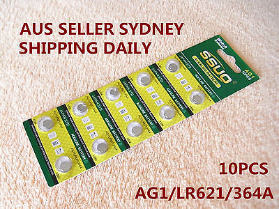 10pcs AG1/LR621/364A Button Cell Coin JAPAN STD Alkaline Battery 1.55V  Watches