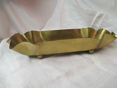 Vintage Solid Brass Copper Gifts The Artistic Line Planter ball feet