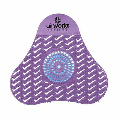 AirWorks {AWSP234} Premier Urinal Screen with Block, Purple (Pack of 12) New