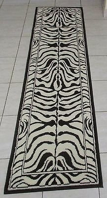 New Dark Brown/cream Animal Skin Print Floor Hallway Runner Themed Rug 60X220Cm