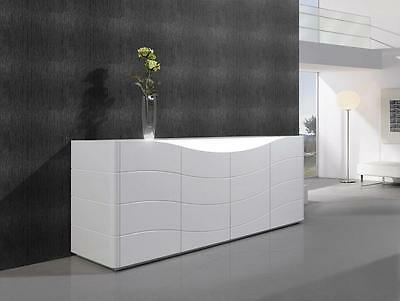 Contemporary White Wood Veneers and Natural Lacquers Buffet J&M Zao
