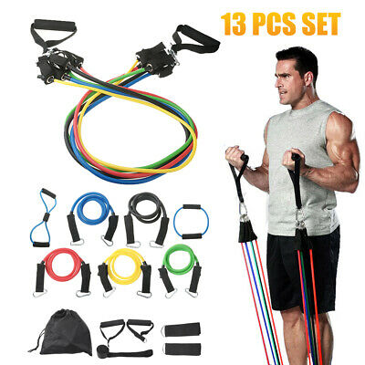 Strength Exercise Travel Gym Yoga Resistance Bands Set Professional Exercise Kit