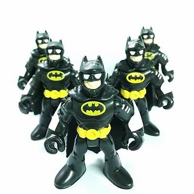 5pcs DC Super Friends Imaginext Batman Hero Rare Fisher-Price Action Figure HA90