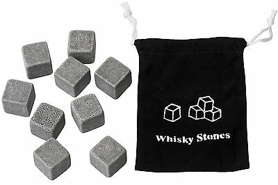 Whisky on the Rocks Stones Chill Cool Boxed Set of 9 Stones Novelty Gift