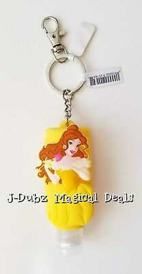 NEW Disney Parks Exclusive Belle Beauty and The Beast Hand Sanitizer Keychain