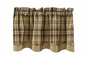 French Country New Curtain Ruffled TIME WORN Kitchen Window VALANCE NEW