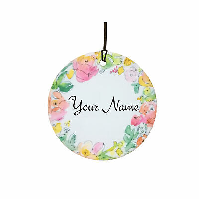 Personalised Flowers Car Air Freshener