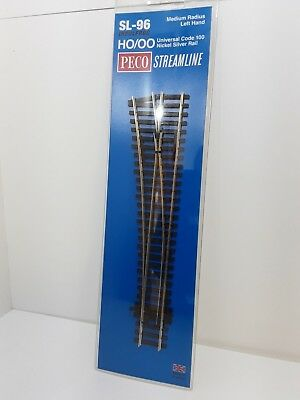 Peco SL-96 OO Gauge Streamline Track Left Hand Point Medium Radius New