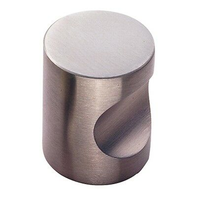 Solid Stainless Steel Cylindrical Cabinet Cupboard Door Knob - Polished or Satin