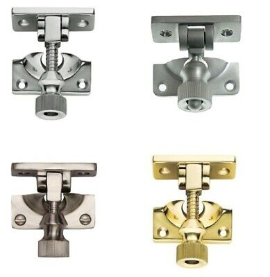 Brighton Sash Window Fastener Twist/Catch/Latch -Chrome, Satin, Brass & Nickel