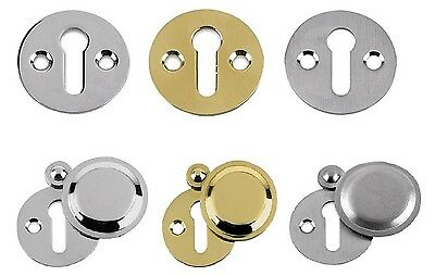 Quality Carlisle Brass Victorian Keyhole Escutcheon Cover Brass, Chrome & Satin