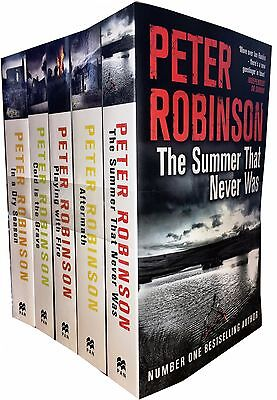 Peter Robinson Inspector Banks Series 5 Books Collection Set Cold is the Grave