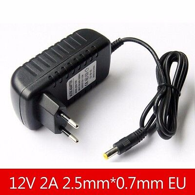 12V 2A DC 2.5mm EU  Plug Power Supply Adapter Converter Chager for Tablet PC