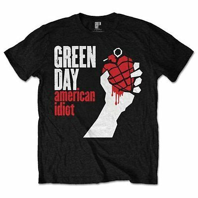 GREEN DAY AMERICAN IDIOT OFFICIAL BLACK Unisex Cotton T Shirt - Punk Dirnt