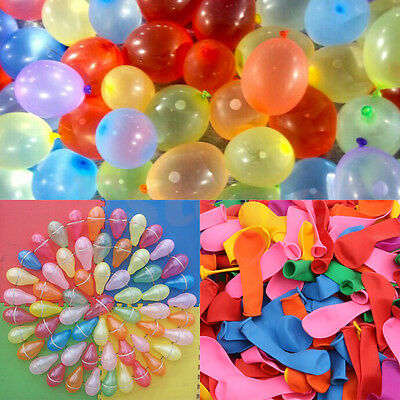 500Pcs Water Bombs Mixed Colorful Water Balloons For Party Children Sand Toy KY