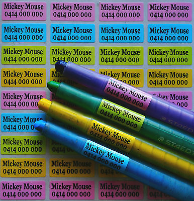 Mix Colour Pearl Personalised Name Stickers Vinyl Tag / Label, 2.2 X 0.9 CM