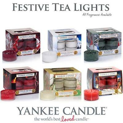 Yankee Candle Festive Scented Tea Lights All Fragrances & FREE POSTAGE