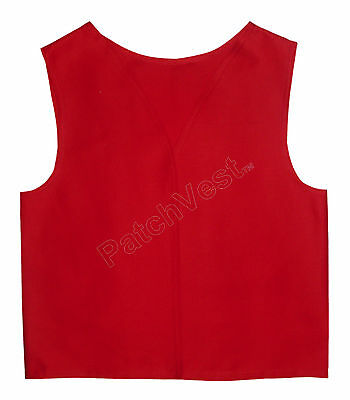 Red Cotton / Polyester Twill Patch Vest YMCA Guides Cub Scout Award Club