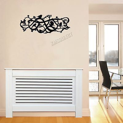 FoxHunter White Painted Radiator Cover Wall Cabinet Wood MDF Modern Home Small