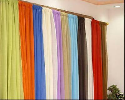 "Slot Top Voile Panels-Various Colours Sizes 48""to 90""with Free Postage"