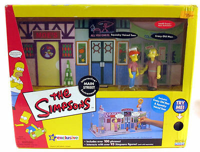 Playmates The Simpsons Main Street Interactive Environment TOYS R US Exclusive
