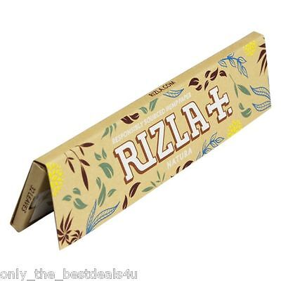 Rizla Natura King Size Slim Smoking Cigarette Rolling Papers -- NEW!!