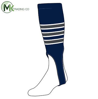 "TCK® Medium, 200D, 7"" - Navy Blue–White–Graphite - MLB® Baseball Stirrups"