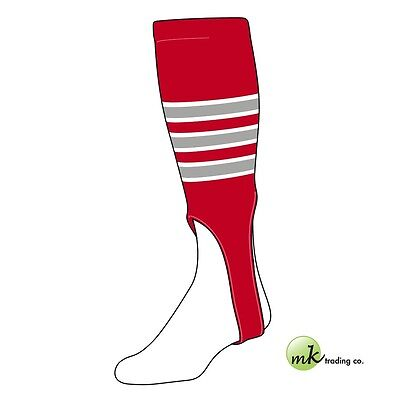 "TCK® Medium, 200D, 7"" - Scarlet Red–White–Grey - MLB® Baseball Stirrups"