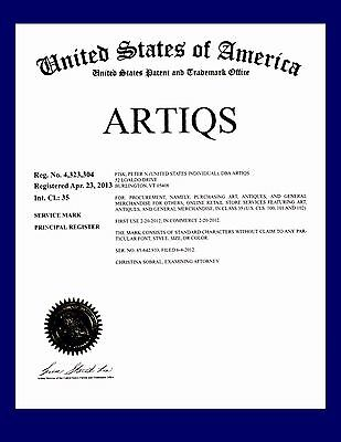 Artiqs ® Registered Art And Antiques Biz +Trade Name +Domain +Inventory Options