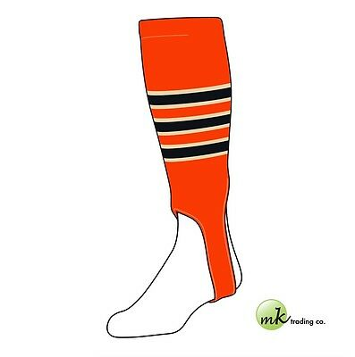 "TCK® Large, 300D, 5"" - Orange–Natural–Black - MLB® Baseball Stirrups"
