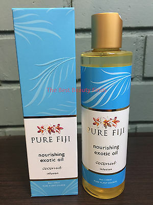 Pure Fiji Nourishing Exotic Oil COCONUT Infusion 8oz - NEW IN BOX & FRESH!