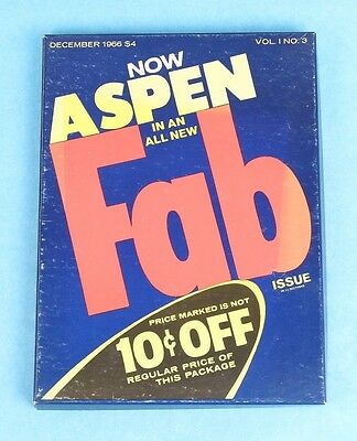 Vintage Dec. 1966 Aspen Magazine Vol. 1 No. 3 Fab Issue Designed By Andy Worhol