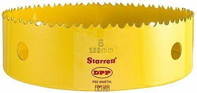 "Starrett DH0600 Bi-Metal Dual Pitch Hole Saw, 6"", 1-5/8"" Cutting Depth,  Yellow"